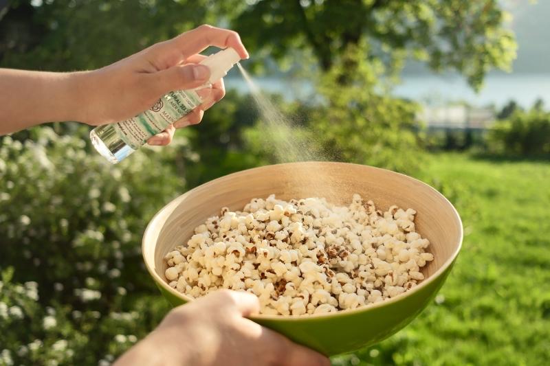 Popcorn healthy snack with MARPHYL Liquid Sea Salt