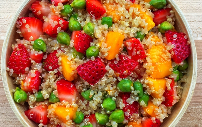Strawberry and quinoa salad by Connie Leung , plant-based lunch