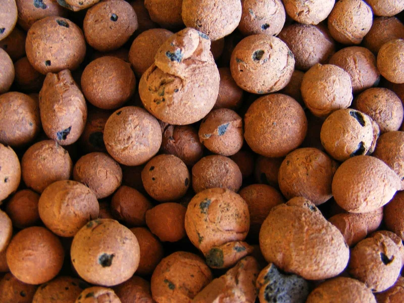 Expanded clay pebbles