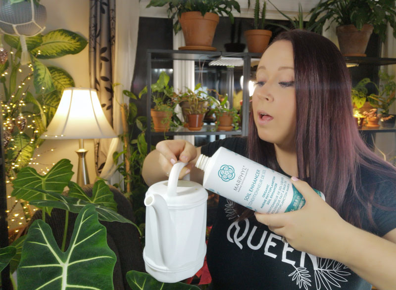 Nicki from Plants pots and whatnots using MARPHYL Soil Enhancer
